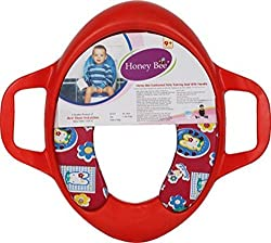 Honey Bee Cushioned Potty Toilet Training Seat with Handle Make your child hygienic Easy to clean and Light Weight Baby Potty Seat