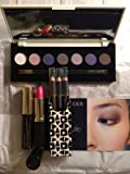 Estee Lauder Gift Set:Pure Color 7-color Eyeshadow, 3 pure color eyeliners, Extreme Black Mascara, Rubellite SHIMMER Lipstick, Cosmetic Bag