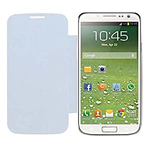 Acm Leather Diary Folio Flip Flap Case For Samsung Galaxy S4 I9500 Mobile Front & Back Cover White