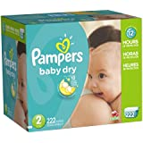 Pampers Baby Dry Economy Pack Plus, Size 2, 222 Count