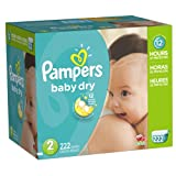 Pampers Baby Dry Diapers Size 2 Economy Pack Plus 222 Count