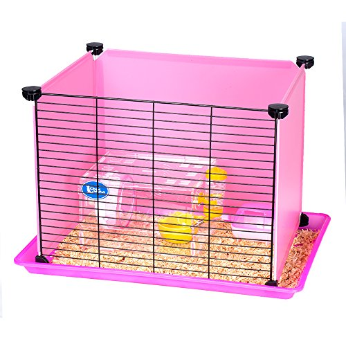Modular Hamster Cage-Playground Series CW55660 (Pink-With Glass House) (Bathroom Modular compare prices)