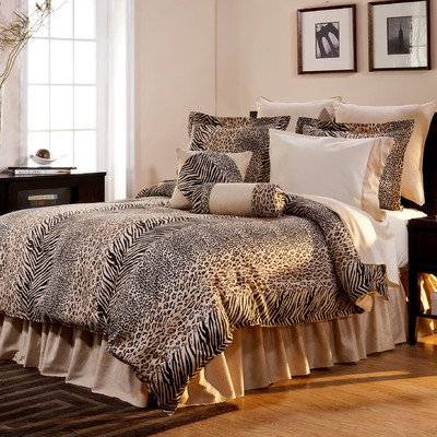 Pointehaven 6-Piece 100-Percent Cotton Luxury Bedding Ensemble, Urban Safari, Twin