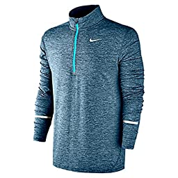 Nike Men\'s Dri-Fit Element Half Zip - Large - Squadron Blue/Heather