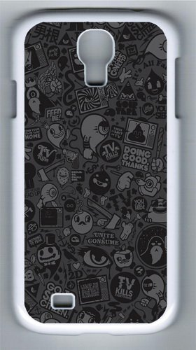 Samsung Galaxy I9500 Case, Samsung Galaxy I9500 Cases -Tv Vector Art Pc Hard Plastic Case For Samsung Galaxy S4/I9500 Whtie