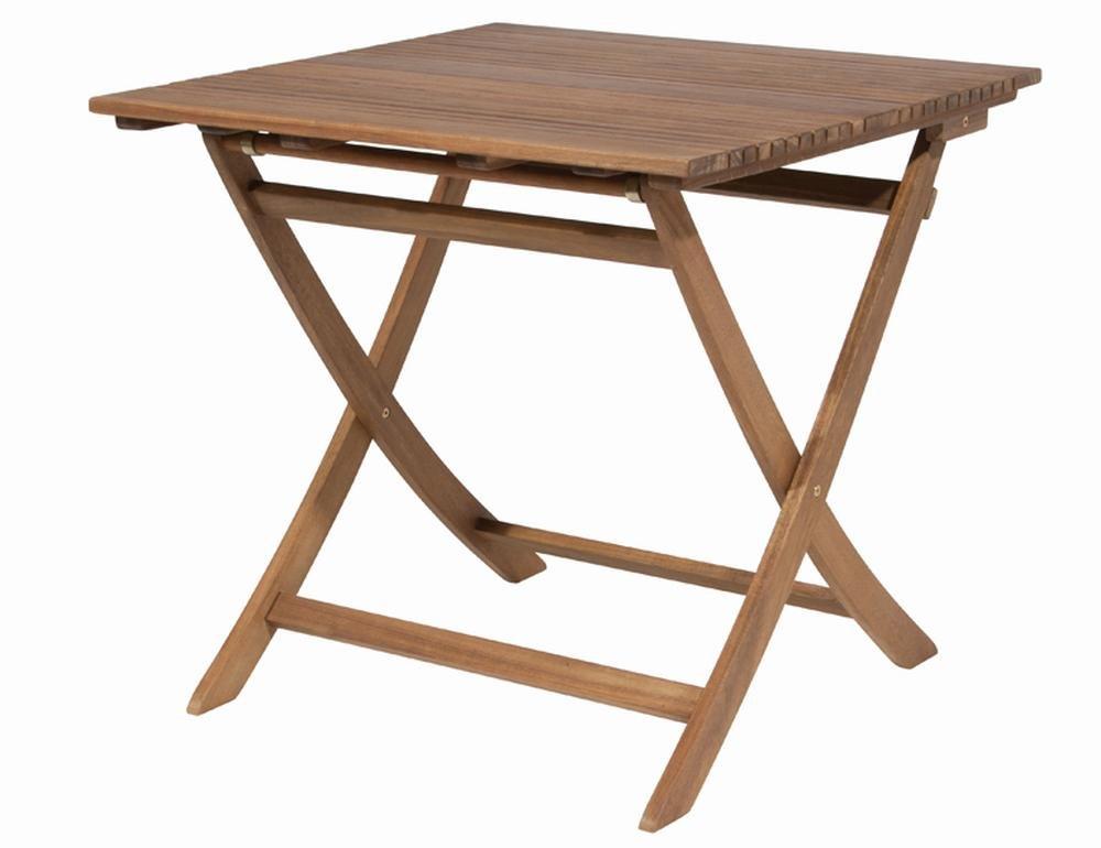 Siena Garden 120569 Tisch Falun, 80x80cm Akazienholz FSC® 100% Beschläge aus galvanisiertem Stahl
