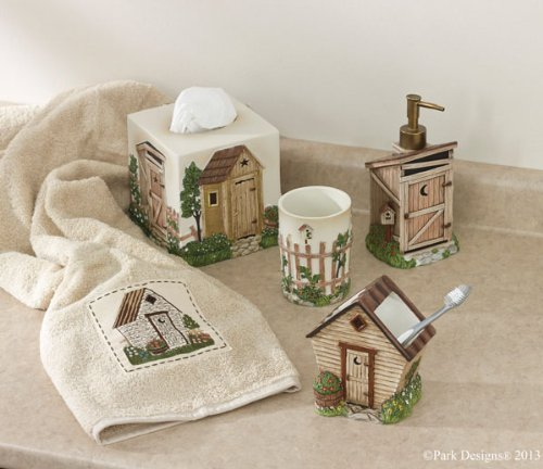 Park Designs Outhouse Tissue Box Cover