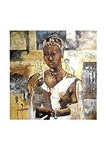 LegendArte Pintura al Óleo sobre Linezo Regina D'Africa 60X60