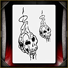Skull Candles AirSick Airbrush Stencil Template