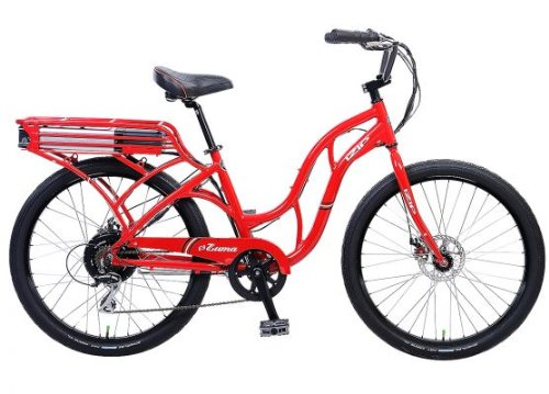 IZIP E3 Zuma - Low Step Beach Cruiser Electric Bicycle - Red