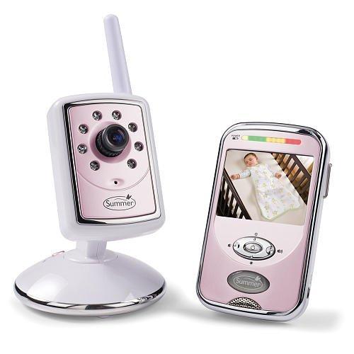 Summer Infant Slim & Secure Handheld Color Video Monitor 2.4 GHz Pink Baby Girls - 1