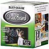 Rust-Oleum 206540 Chalkboard Brush-On, Black, 30-Ounce