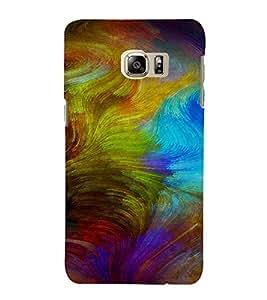 PrintVisa Colorful Modern Art Design 3D Hard Polycarbonate Designer Back Case Cover for Samsung Galaxy S6 Edge+ Plus
