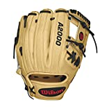 Wilson A2000 Infield Baseball Glove, Blonde/Black/Red, Right Hand Throw, 11.5-Inch