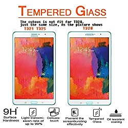 Anoke Galaxy Tab Pro 8.4 SM-T320 / T321 / T325 Tablet Tempered Glass Front LCD Screen Protectors 9h Hardness 2.5d Rounded Edges 0.3mm Thickness for Samsung Galaxy Tab Pro 8.4 Tablet SM-T320 / T321 / T325
