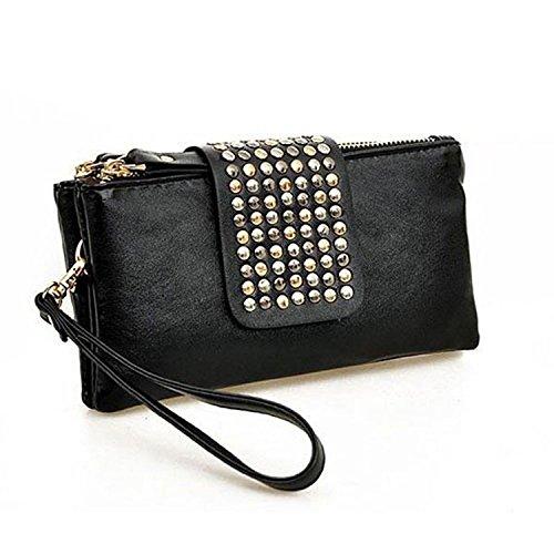 Minetom DonnePortafogli e accessori tascabili PuinPelleTitolareDellaCartaPochettePortafoglioZip Borsetta Handbag