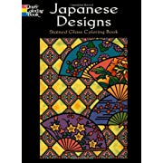 Japanese Designs Stained Glass Coloring Book
