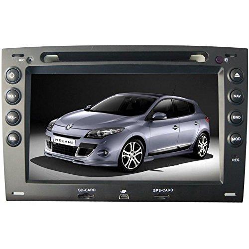 REALMEDIA Renault Megane II/II OEM Einbau Touchscreen Autoradio DVD Player MP3 MPE4 USB SD 3D Navigation GPS TV iPod USB MPEG2 Bluetooth Freisprecheinrichtung +++mit REALMEDIASHOP Garantie+++