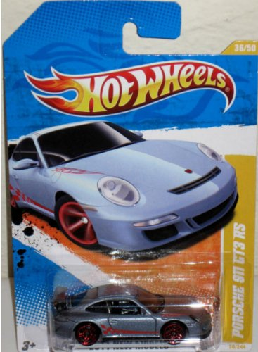 Hot Wheels - 2011 New Models 36/50 - Porsche 911 GT3 RS 36/244, 1:64 Scale (Dark Silver) - 1