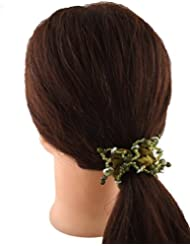 Anuradha Art Green Colour Stylish Classy Look Hair Accessories Hair Band Stylish Rubber Band For Women/Girls