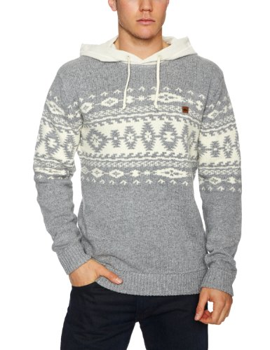 Quiksilver Zonzia Mens Sweatshirt Light Grey Heather Large