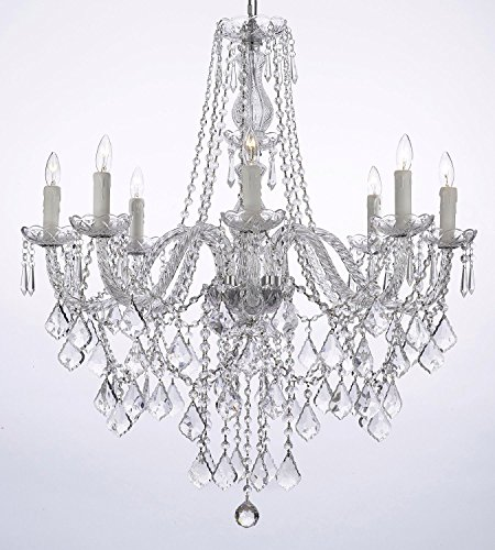 Crystal Chandelier Lighting 33ht X 28wd 8 Lights Fixture Pendant Ceiling Lamp Free Shipping
