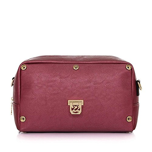 Numeroventidue MEDIUM TURTLE BODY Borse Accessori Pvc Metal Bordeaux Metal Bordeaux TU