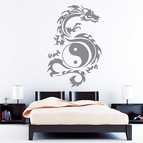 wandtattoo loft tribal zeichen yin yang drache wandtattoo 49 farben 3 gr en. Black Bedroom Furniture Sets. Home Design Ideas