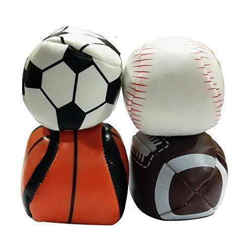 Michley Hacky Sack Sportbälle Außen Footbag Classic Set von 4 (Football, Baseball, Basketball, Fußball) günstig bestellen