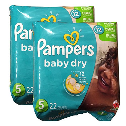 Pampers Baby Dry Diapers - Size 5 - 44 ct