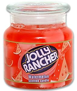 1X NEW Jolly Rancher Theme Watermelon Scented Candle 14.75 Oz Limited Glass Jar