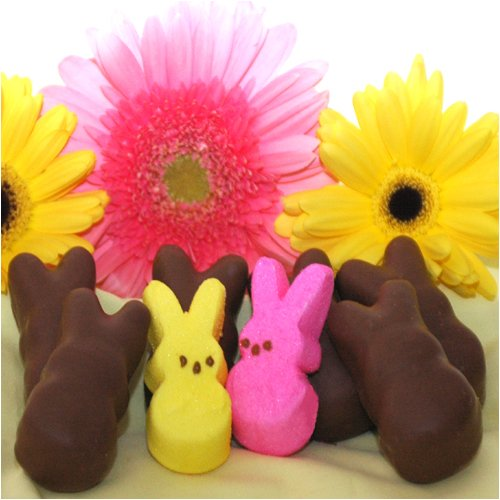 Easter Chocolate Covered Bunny Peeps - 8 piece (Gourmet,Chocolate Chocolate Chocolate Company,Gourmet Food,Chocolate,Milk Chocolate)