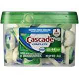 Cascade Complete All-in-1 ActionPacs Dishwasher Detergent, Fresh Scent 44 Count