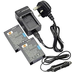 DSTE ICP103346 Rechargeable Li-ion Batterie/Pile Chargeur pour Oregon Scientific DC127U B-ATC9K ATC9K appareil photo et vidéo