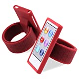 Red Watchband Wristband Silicone Skin Case Cover For Apple iPod Nano 7