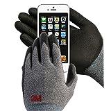 3M Comfort Grip Nitrile Foam Work Gloves, Super Grip 200, General Use / for Safety, Texting, Smartphone -5 Pairs- (Medium) (Color: Grey, Tamaño: Medium)