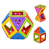 Newisland Magnetic Building Blocks, Toys for toddlers and adults, Including Accessories, 66-piece