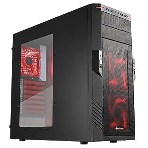 Sharkoon T28 PC-Gehäuse (ATX, 2x 5,25 extern HDD, 8x 3,5 intern HDD) rot