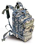 "Ultimate Arms Gear ACU Army Digital Camouflage Heavy Duty Combat Multi-Functional Equipment Survival Assault Transport Medium 17"" Bug-Out Bag BackPack with Adjustable Slip Shoulder Detachable Length Straps MOLLE System Shooting Range Military Hunting Camping Law Enforcement Gear Rucksack Pack AMB3 + OD Olive Drab Green 2.5 Liter / 84 oz. Replacement Hydration Backpack Water Bladder Reservoir - Includes Hosing And Hands Free Bite Valve"