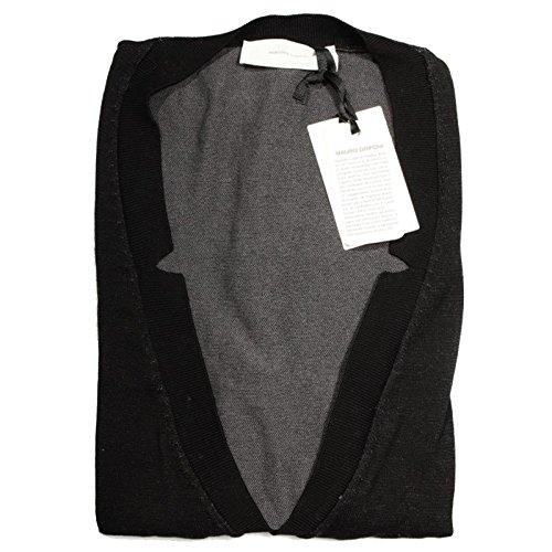 17489 gilet MAURO GRIFONI maglia smanicato uomo sleeveless men nero [46]