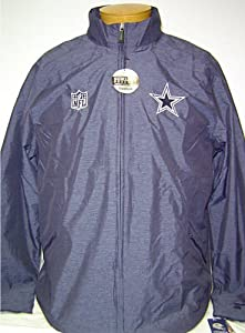 New! Reebok Dallas Cowboys Navy Blue Blockout Sideline Windbreaker Jacket by NFL