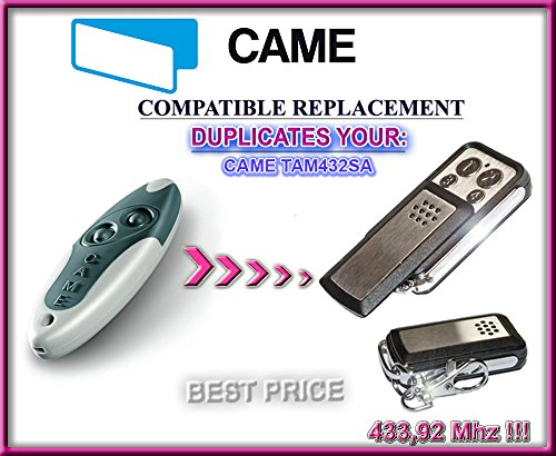 CAME TAM432SA universal remote control replacement transmitter, 433.92Mhz fixed code clone (Universal Remote Codes compare prices)