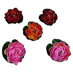 Thefancymart Decorative Water Floating lotus flowers set of 5 Style Code-1