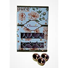 Pure Source India 24 Pcs Pack Of Scented Tea Light Candles Lavender Fragrance Smokeless ,BURN TIME 3 HRS.