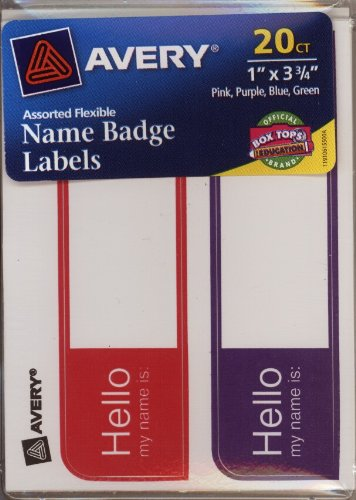 AVERY Name Badge Labels 6155