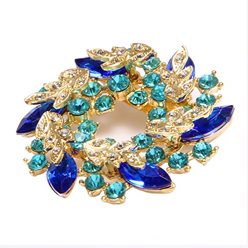 Valdler Women 's Brooch Pin With Fashion Jewelry Fancy Vintage Rhinestone Bling Crystal Bauhinia Flower 1