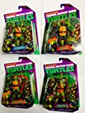 Nickelodeon Teenage Mutant Ninja Turtles Battle Shell Action Figures Bundle [Leonardo, Michelangelo, Raphael & Donatello] TMNT