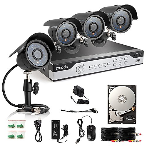Great Features Of Zmodo ZM-B8Q4-500G 8CH 960H P2P DVR Security System with 4 x 600TVL Cameras & 500G...