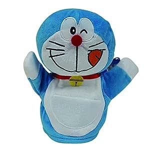 Doraemon Puppet, Blue/White