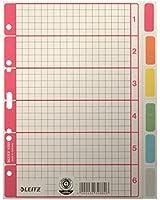 LEITZ Intercalaire carton extra solide A5 Neutre 6 positions